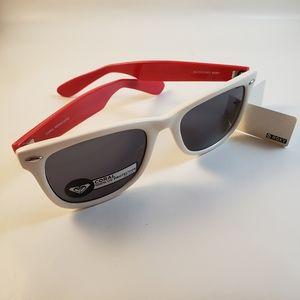 Roxy retro red and white sunglasses